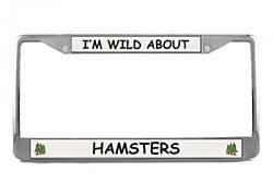 Hamster License Plate Frame