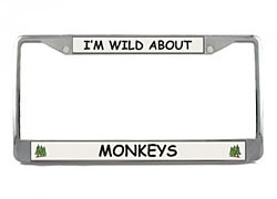 License Plate Frame: Monkey
