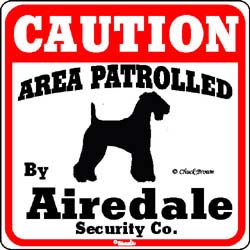 Sign: Airedale