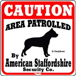 Sign: American Staffordshire Terrier