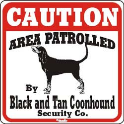 Sign: Black & Tan Coonhound