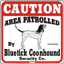 Sign: Bluetick Coonhound