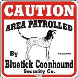 Sign: Bluetick Coonhound
