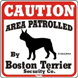 Sign: Boston Terrier