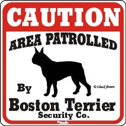 Sign: Boston Terrier