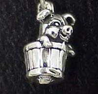 Jewelry - Charm: Pig in Barrel