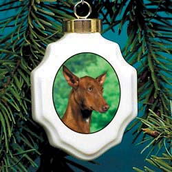 5445 Christmas Ornament: Pharaoh Hound