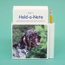 7978 Hold a Note: English Setter