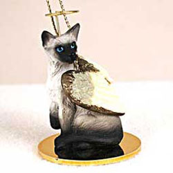 Siamese Cat Ornament - Angel
