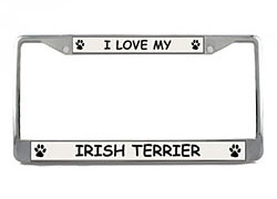 License Plate Frame: Irish Terrier