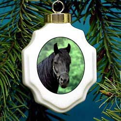 Black Horse Ornament