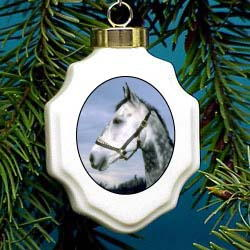 Dapple Gray Horse Ornament