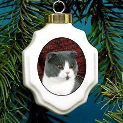 Scottish Fold Cat Ornament
