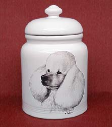cookjarpoodw Cookie Jar: Poodle White