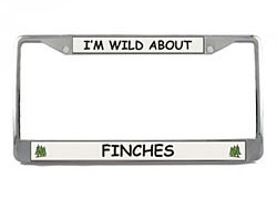 Finch License Plate Frame