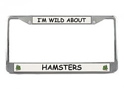 Hamster License Plate Frame
