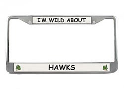 Hawk License Plate Frame