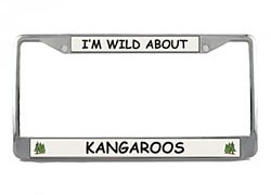 Kangaroo License Plate Frame