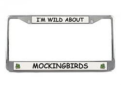 Mockingbird License Plate Frame