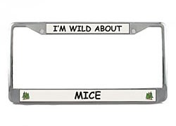 Mouse License Plate Frame