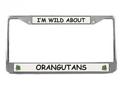 Orangutan License Plate Frame