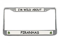 Piranha License Plate Frame