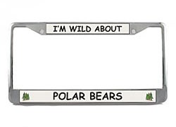 Polar Bear License Plate Frame