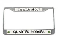 Quarter Horse License Plate Frame