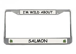 Salmon License Plate Frame