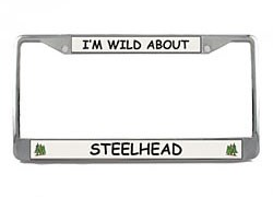 Steelhead License Plate Frame