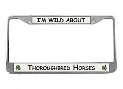 Thoroughbred Horse License Plate Frame
