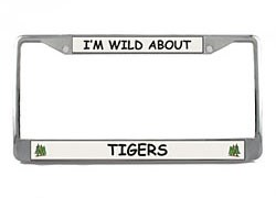 Tiger License Plate Frame