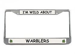 Warbler License Plate Frame