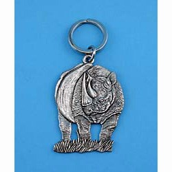 Rhinoceros Keychain