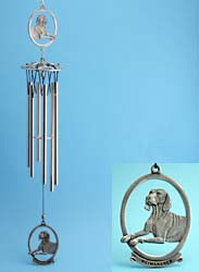 Weimaraner Windchime