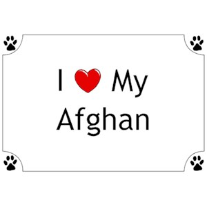 Afghan Hound T-Shirt - I love my