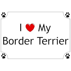 Border Terrier T-Shirt - I love my