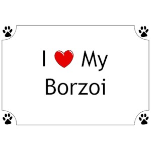 Borzoi T-Shirt - I love my