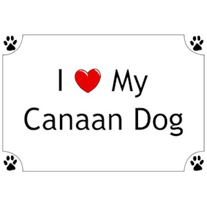 Canaan Dog T-Shirt - I love my