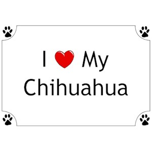 Chihuahua T-Shirt - I love my