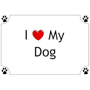 Dog T-Shirt - I love my