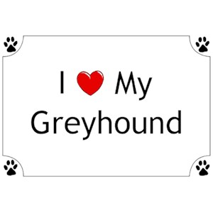 Greyhound T-Shirt - I love my