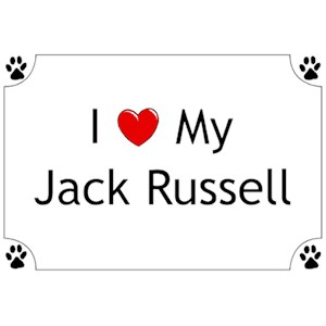 Jack Russell Terrier T-Shirt - I love my
