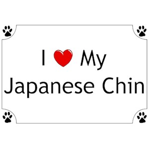 Japanese Chin T-Shirt - I love my