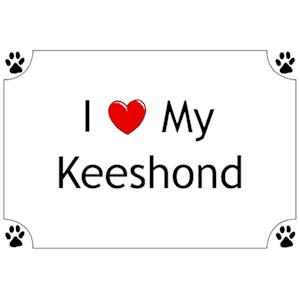 Keeshond T-Shirt - I love my