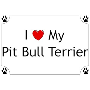 Pit Bull Terrier T-Shirt - I love my