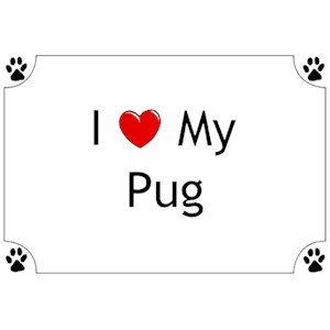 Pug T-Shirt - I love my