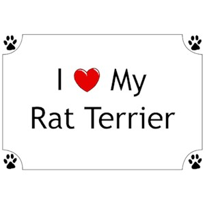 Rat Terrier T-Shirt - I love my