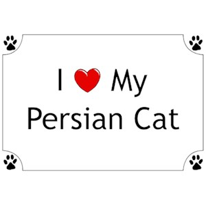 Persian Cat T-Shirt - I love my