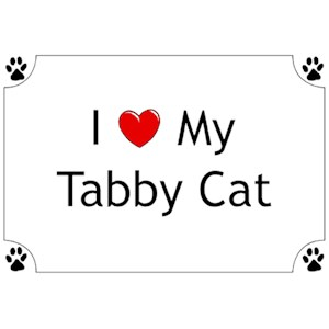 Tabby Cat T-Shirt - I love my